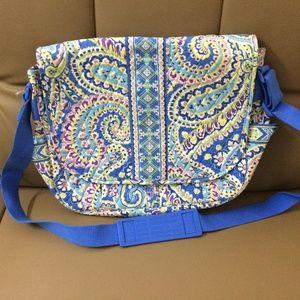 NWOT Vera Bradley Messenger Bag Capri Blue
